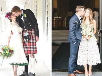 想當六月新娘又怕熱?4款對抗夏日高溫的短婚紗時尚